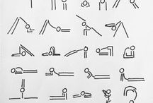yoga drawings