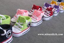 Crochet Baby Converse Boots