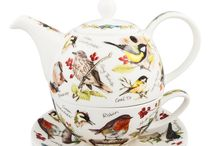 Tea4One Teapots by Dunoon / The Tea for One teapot has a capacity of 500ml (17oz), the cup has a capacity of 250ml (8.4oz). This design is not dishwasher safe nor microwave safe due to the gold embellishment. / by Prince Edward Island Preserve Co.