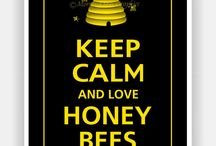 We Love Honey Bees / Honey bees are essential and we do our best to protect them. When they're in the walls of your house, we move them out, because we love honey bees!