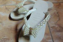chinelos customizados / Minhas artes