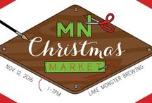 MN Christmas Market / A holiday maker market and charity fundraiser. Support the Minnesota Maker movement. Saturday, November 12 from 1-7 PM at Lake Monster Brewing. 550 Vandalia St. #160 Saint Paul, MN