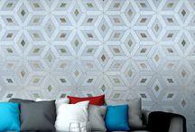 simple solution / Geometric Wallpaper - Textured Vinyl Wallpaper on non-woven base.