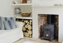 Wood stove room ideas