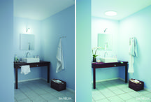 Antes / Después / El cambio que se genera cuando se ilumina con luz natural.