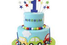 twin boys cake