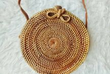 Bali bags, straw bags, rattan bags by Casa Frasta