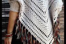 poncho con mangas a crochet con patron