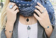 Layering Jewelry + Scarves