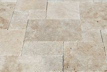 Travertine stone pavers