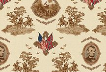 """Civil War fabric - """"Gettysburg"""" / This is inspiring fabric.  There is a lot of Civil War fabric and this is some of the best. Available at Material Mart, 86 Ashman Circle, Midland, MI and at materialmart.com  / by Material Mart"""