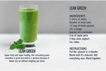 Smoothie and healthy food