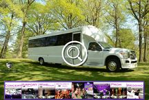 (NJ) PARTY BUS RENTAL (27 Passenger) / This Party Bus can accommodate 27 passengers very comfortably. It is equipped with a V.I.P. Area, 4 Big Screen TV's , One vertical bar with champagne flutes, AM/FM/CD, DVD player, I-Pod connection, strobes, laser lights, fiber optic lighting, RGB color wash lighting, wood flooring, 5 Emergency Egress exits, Vertical support system, lavatory and sink.   #partybus #njpartybus   TRULIMO.COM Tel: 908.523.1700