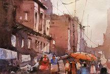 Akvarel gadebilled