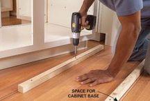Install kitchen units