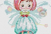 ANGEL-FAIRY*CROSS STITCH-EMBROIDERY