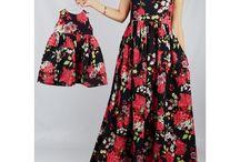 Anne kız elbiseleri