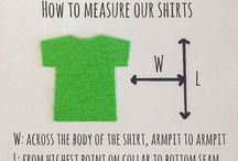 T-shirt Tips & Terms / Some helpful information when ordering or caring for your t-shirts.
