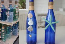 garrafas decoradas / by Maria Machado