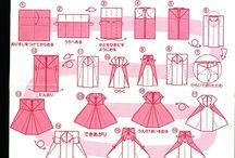 Modele pour robe en papier