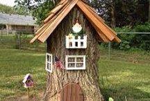 domečky ze stromů