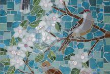 Birds on blossom tree