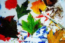 Leafprints - Φυλλοαποτυπώματα / Kids painting creations