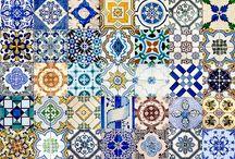 Mosaikk farger fliser