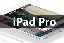 iPad Pro / La versión Pro del iPad ya ha llegado, en dos versiones de 12,9 pulgadas y otra de 9,7 pulgadas. Ambas compatibles con Apple Pencil y toda la potencia que necesitas en una tablet.