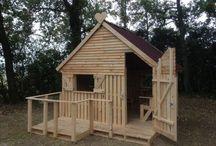 dřevěné, zahradní, dětské domky