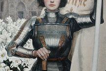 Joan of Arc / Jeanne d'Arc (6 January 1412[6] – 30 May 1431), nicknamed  La Pucelle d'Orléans, a heroine of France for her role during the Lancastrian phase of the Hundred Years' War and was canonized as a Roman Catholic saint.