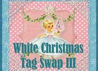 White Christmas Tag Swap 2012