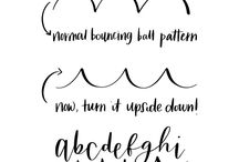 Bounce lettering