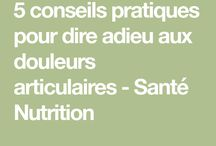 nutrition/douleurs/inflammations articulation