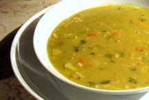 sopa de avena y espinacas
