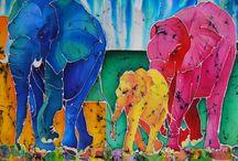 KittyvandenBeld-3 olifanten-batik