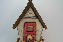 Birdhouse on cart