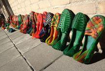 Amazonian Rubber | S h o e s / Handmade shoes made with 100% wild Amazonian rubber. Made in Brazil by artisan Doutor da Borracha. www.handprintcrafts.org