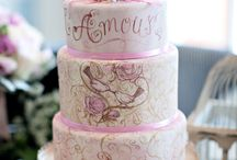 Painted wedding cakes / Wedding cakes that have been hand-painted