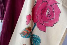 Bimbette / Hand-painted stoles and other stuff