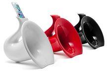Saxo-phone / Saxo-phone è un amplificatore naturale portatile in ceramica smaltata, che non necessita di corrente elettrica.