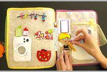 Quiet Book / libros de sensaciones, casas de muñecas para jugar con creatividad y sin superestimulación.