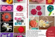Crocheting Flowers and bows