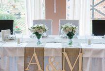 ślub - stół pary młodej