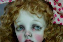 Красивые кукольные головки.