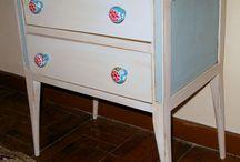 redecorando una mesilla / decoración de muebles