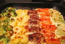 Fleisch und Gemüse Backofen