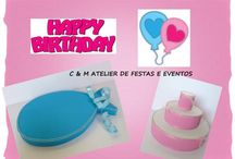 INÊS E JOÃO - TWINS PARTY / Table design - umdiadefesta ; Graphic design and party kit - Shop Decora a Festa ; Sweets and other food - Bolos e Bolinhos Atelier