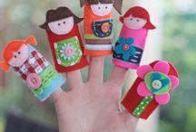 Puppets / Preschool - early elementary puppet ideas.