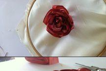 květiny z textilu